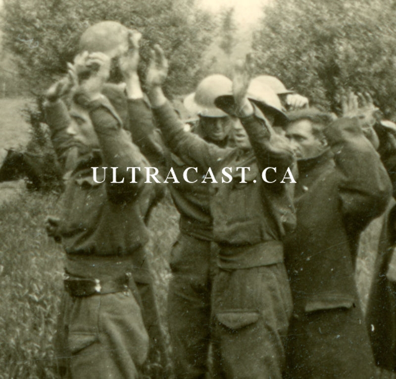 British Soldiers Surrendering to a German Armed with a Sword, France 1940,  Original WW2 Photo