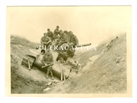 German Soldiers Sitting on Captured T-34 Tank, Russia 1941, Original WW2 Photo
