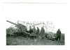 German 15 cm Gun and Crew Under Camo Net, Original WW2 Photo