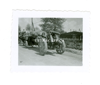German 15 cm Horse Drawn Artillery, Original WW2 Photo