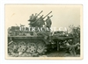 German Flak Half Track 20 mm Flakvierling and Crew, Original WW2 Photo