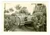 "Column of German Soldiers Passing a French Char B Tank Named ""Bourgueil"" No. 355, France 1940, Original WW2 Photo"