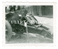 15 cm sIG 33 Infantry Gun with Breach Cover, Original WW2 Photo