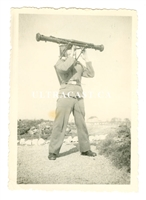 German German Using a Stereoscopic Rangefinder, Original WW2 Photo