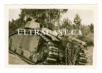 "French Char B Tank named ""Olivier"" No. 740, France 1940, Original WW2 Photo"