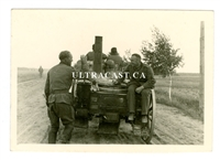 German Field Kitchen on Road in Russia, Original WW2 Photo
