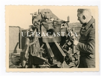 88 mm Gun and Crewman, Original WW2 Photo