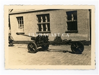 "German 5 cm Pak 38 Anti-Tank Gun with ""Dolly"" Third Wheel, Original WW2 Photo"