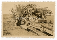German 21 cm Artillery Gun in Firing Position, Original WW2 Photo
