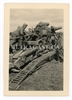 German Troops Loading a 21 cm Artillery Gun, Original WW2 Photo