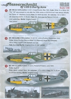 Print Scale 48-162 - Messerschmitt Bf 109 G Early Aces
