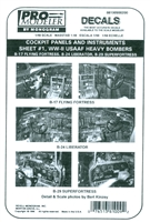 Pro Modeler 88100900200 - Cockpit Panels and Instruments, Sheet #1