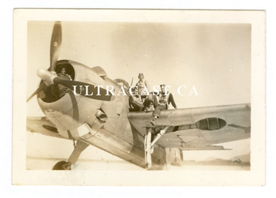 Grumman Avenger and Crew Sitting on Wing, Original WW2 Era Photo