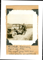"2 American Military Police with Jeep Named ""Bethany"", Germany 1945, Original WWII Photo"
