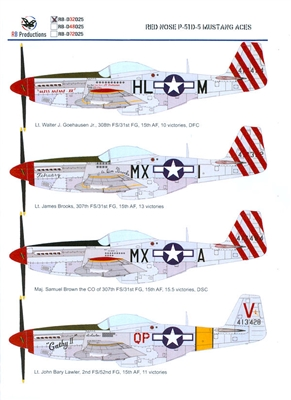 RB-Productions RB-D32025 - Red Nose P-51D-5 Mustang Aces