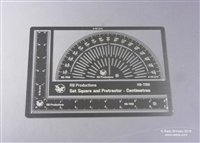 RB-Productions RB-T050 - Set Square and Protractor (Centimetres)