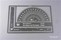 RB-Productions RB-T051 - Set Square and Protractor (Inches)