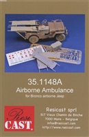 Resicast 35.1148A - Airborne Ambulance Conversion for Bronco Airborne Jeep