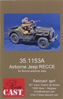 Resicast 35.1153A - British Airborne Reconnaissance Jeep (for Bronco Jeep)