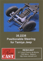 Resicast 352238 - Positionable Steering for Tamiya Jeep