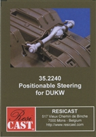 Resicast 352240 - Positionable Steering for Italeri DUKW