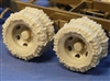 Resicast 352423 - Wheels with Snow Chains for GMC 6x6 2-1/2 Ton Truck