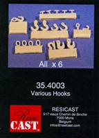 Resicast 354003 - Hooks and Pulleys