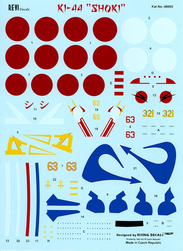 Lifelike Decals 1//48 NAKAJIMA Ki-44 SHOKI TOJO Fighter Part 3