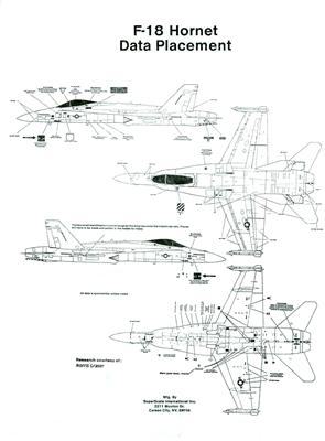 Superscale Decal 48-1197 F//A-18C Hornet