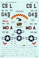Super Scale 48-671 - P-51D Mustang Aces European Theater