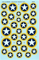 Super Scale 48-976 - Yellow Outline WWII U.S. Insignia (Operation Torch)