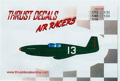 Thrust Decals 048 - Air Racers - 1947 Bendix Race