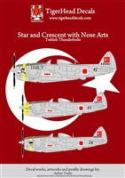 TigerHead Decals 48005 - Star and Crescent with Nose Arts (Turkish Thunderbolt)