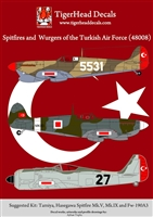 TigerHead Decals 48008 - Spitfires and Wurgers of the Turkish Air Force