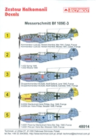 Techmod 48014 - Messerschmitt Bf 109E-3