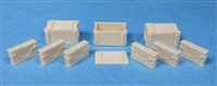 Ultracast 135005 - Besa 7.92 mm Ammo Boxes & Liners (for British AFV Mounted MG's, WWII)