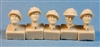 Ultracast 35015 - British Heads WWII (with Camouflaged Mk II Helmets)