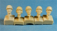 Ultracast 35025 - British Heads (with Armoured Corps Helmets)