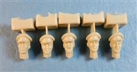 Ultracast 35030 British Heads WWII (with Officers Service Caps)