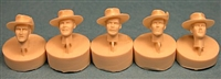 Ultracast 35038 British Heads WWII with Felt Bush Hats