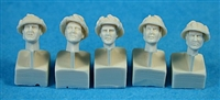 Ultracast 35041 British Heads WWII (with Camouflaged Mk III Helmets)