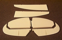 Ultracast 48086 - Supermarine Spitfire Mk IX Late Style Control Surfaces (fits Hasegawa kits)
