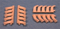 Ultracast 48104 De Havilland Mosquito 5 Stack Exhausts (fits Tamiya kit #61062 & #61066)