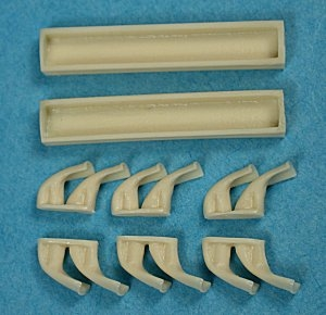 Ultracast 48144 Curtiss P-40F-N Flared Exhausts (fits AMT/Ertl kits)