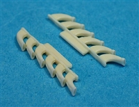 Ultracast 48150 Supermarine Spitfire Mk V 6-Stack Exhausts (fits Tamiya Kit #61033 & #61035)