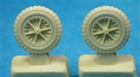 Ultracast 48162 - Messerschmitt Bf 109 F-G4 Wheels (second pattern spoked rims), 650 x 150 ribbed tires