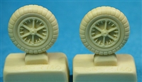 Ultracast 48163 - Messerschmitt Bf 109 G2-G4 Wheels (second pattern spoked rims), 660 x 160 ribbed tires