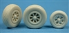 Ultracast 48218 - P-38 Lightning Wheels (diamond tread tires)