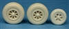 Ultracast 48226 - P-38 Lightning Wheels, Spoked Nose Wheel with Rear Cover (diamond tread tires)