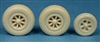 Ultracast 48227 - P-38 Lightning Wheels, Spoked Nose Wheel with Rear Cover (block tread tires)